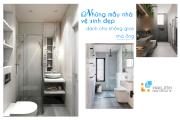 Những mẫu nhà vệ sinh đẹp dành cho không gian nhà ống