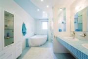 9 phòng tắm màu xanh nước biển tinh tế và trong lành