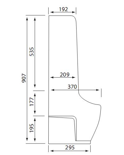 Bản vẽ kỹ thuật Tiểu nam Viglacera BS604