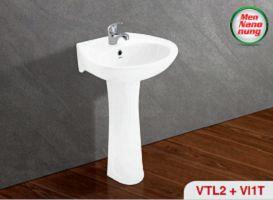 Chậu treo tường(VTL2), chân chậu dứng (VI1T)