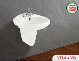 Chậu treo tường (VTL3), chân chậu lửng (VI5)