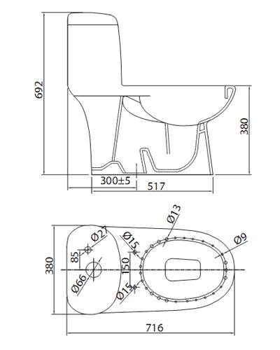 bàn cầu viglacera c109 nano nung
