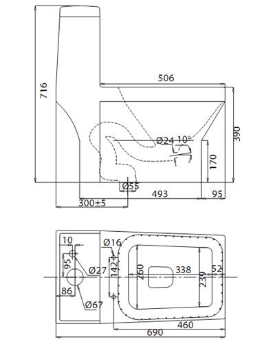 bàn cầu két liên V42 Nano Nung