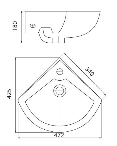 Bản vẽ kỹ thuật Chậu chân đứng Viglacera VG1+ VI1T