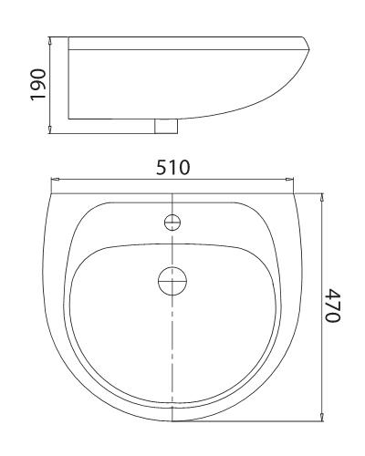 Bản vẽ kỹ thuật chi tiết chậu chân đứng Viglacera vi1t