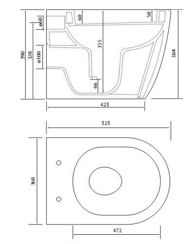 Bồn cầu Vglacera âm tường V56