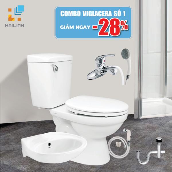 Combo trọn bộ thiết bị vệ sinh Viglacera số 1