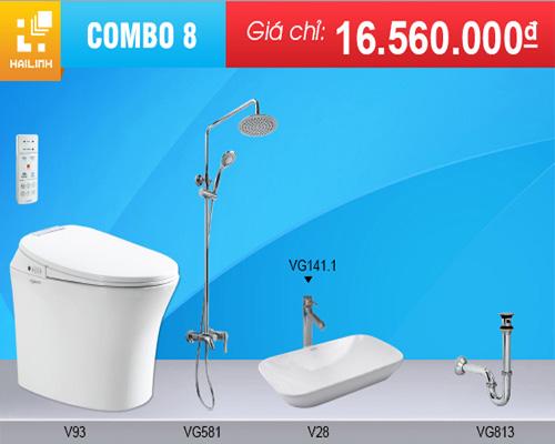 Combo trọn bộ thiết bị vệ sinh Viglacera số 8