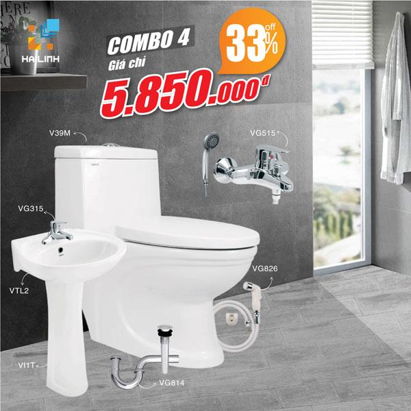 Combo trọn bộ thiết bị vệ sinh Viglacera số 4