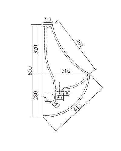Bản vẽ kỹ thuật tiểu nam viglacera T51