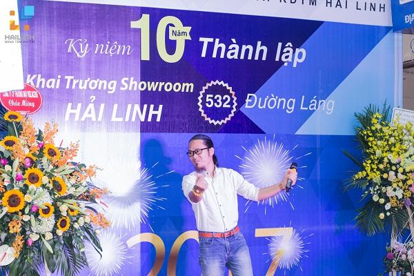 danh hài vượng râu tham gia khai trương showroom 532 đường láng