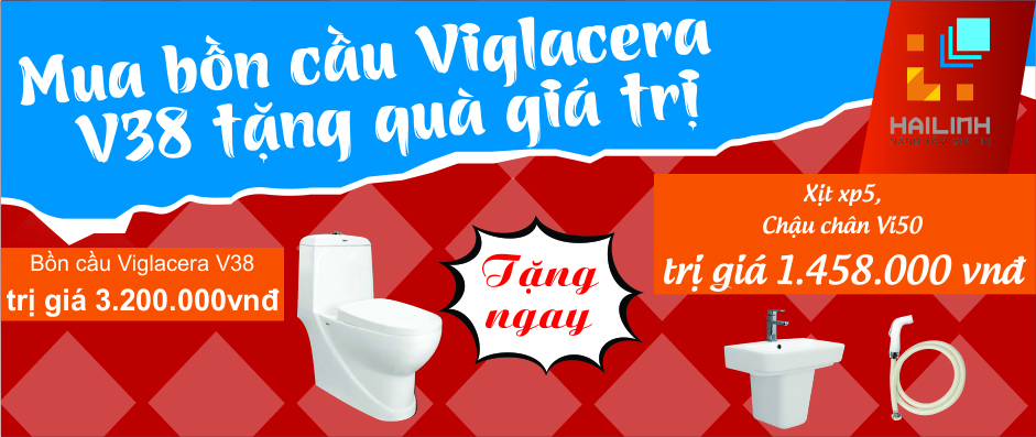 khuyến mại khi mua bồn cầu viglacera v38