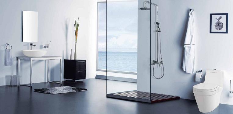 Phòng tắm với bồn cầu V35 đẹp mắt