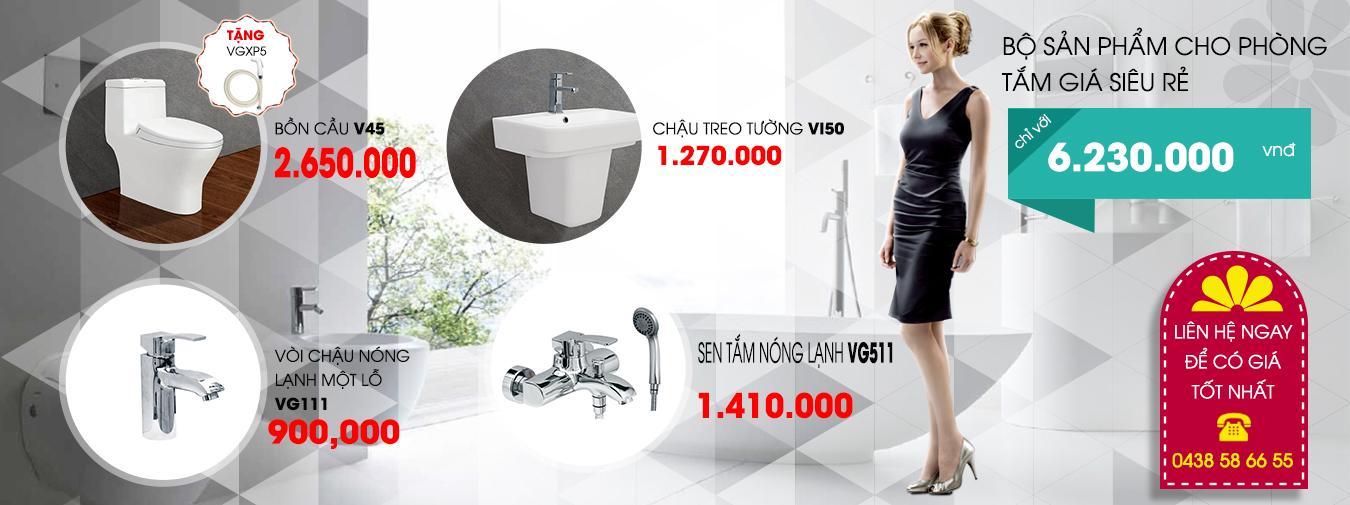 Bộ sản phẩm viglacera V45 giá tốt nhất thị trường