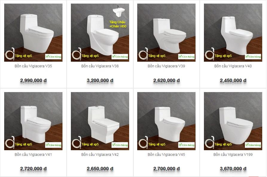 Bồn cầu Viglacera sự lựa chọn hoàn hảo cho phòng tắm nhỏ