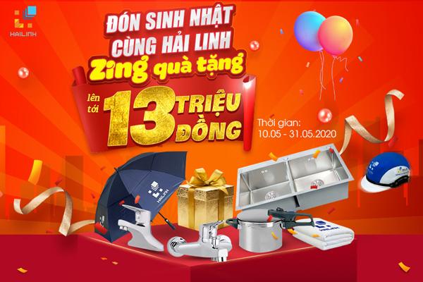 Sinh nhat Hai Linh tang qua 13 trieu