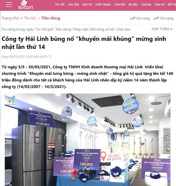 Hai Linh tren EVA